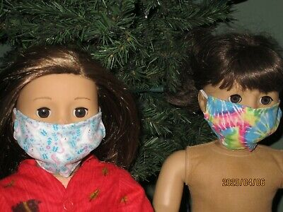 """2 Face Masks for 18"""" Doll Clothes American Girl"""