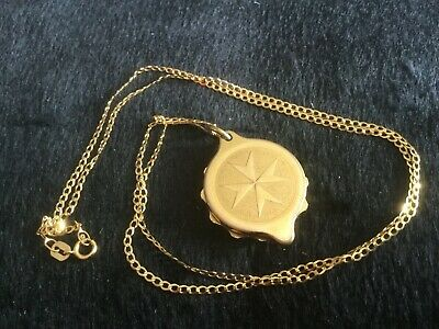 9ct chain with Gold plated SOS talisman pendant                            T5405