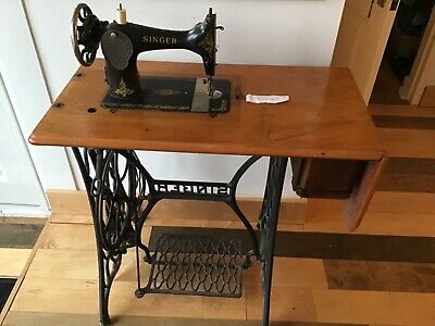 Vintage Singer Treadle Cast Iron Sewing Machine with draw for cotton reels