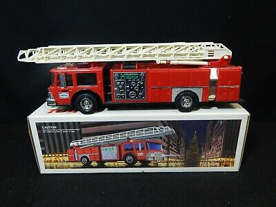 Vintage 1986 Hess Truck Toy Fire Truck Bank Original Box
