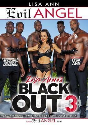 autographed LISA ANN BLACK OUT #3 DVD COVER w/ PIC PROOF!