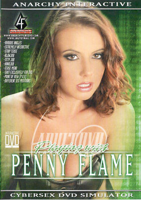 autographed PENNY FLAME PLAYING WITH DVD COVER w/ PIC PROOF!
