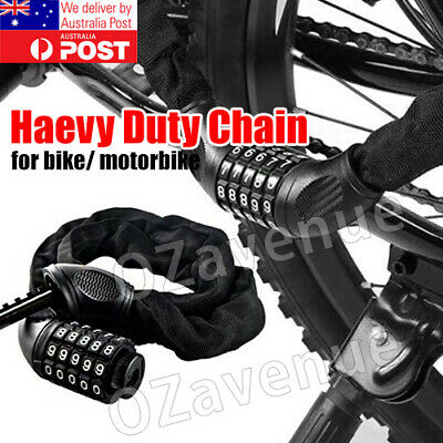Security Bicycle Chain Lock Combination Bike Lock Cable with 5-Digit Resettable