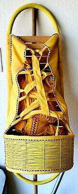 """Native American Indian Full Size Hand Made Papoose approx 36"""" long"""