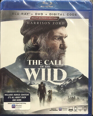 The Call Of The Wild (2020, Blu-Ray+Dvd+Digital) New* Free Shipping!!!