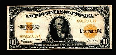1922 $10 Large Size Gold Certificates