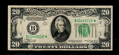 1934 A $20 STAR Federal Reserve Notes New York