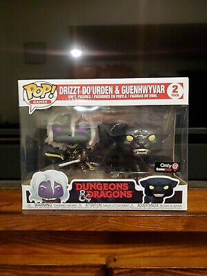 Funko POP Dungeons and Dragons Drizzt Do'Urden with Guenhwyvar 2 Pack +Protector