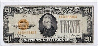 $20 1928 GOLD CERTIFICATE  SERIES 1928 FR:2402 Very Nice Evenly Circulated Note!