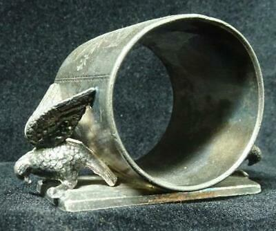 Antique Victorian Silverplate Figural Napkin Ring, Double Eagle Meriden 146