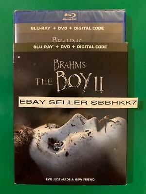Brahms The Boy 2  II Blu-ray + DVD & Digital HD & Slipcover New Free Shipping