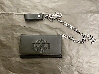 Harley Davidson Tri Fold Men Wallet Cow Leather NEW