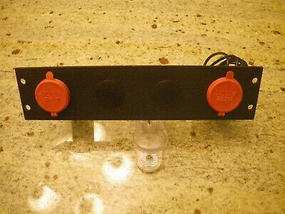 """Troy 2"""" Console Plate with 4 DC Outlet Holes"""