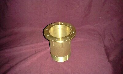 "Solid Brass 4"" Floor Roof Drain Receiver Collar 4"" Pipe Thread 2-1/2""  Hole I.d."