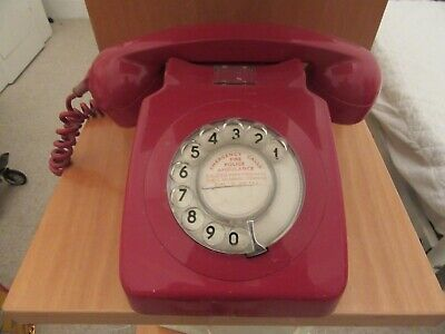 Vintage home phone BT dial telephone red perfect working condition