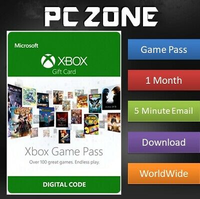 1 Month Xbox Game Pass Trial Membership For Microsoft Xbox One