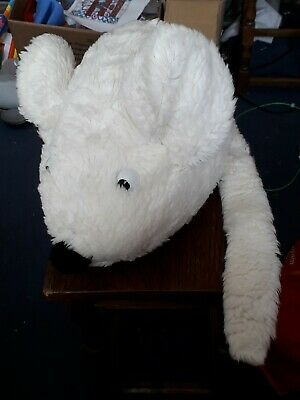 Large White Mouse Soft Toy