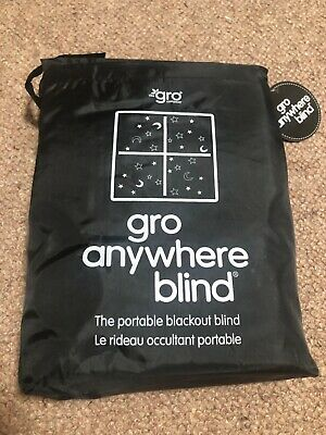 Gro Anywhere Portable Adjustable Moon and Stars Blackout Blind with suction cups