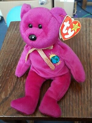 Ty Beanie Baby, Millenium 2000 Bear With Tag