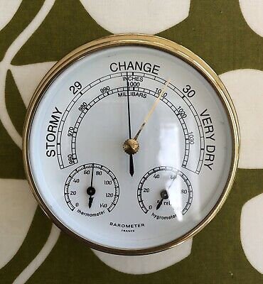 Small Brass Barometer - Ideal Fathers Day Gift