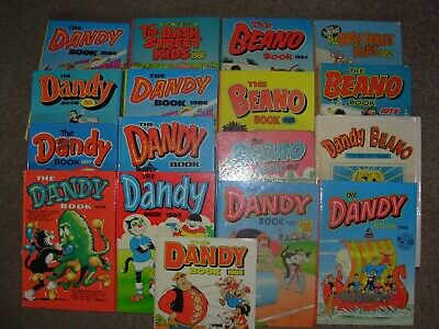 vintage comic annuals beano and dandy