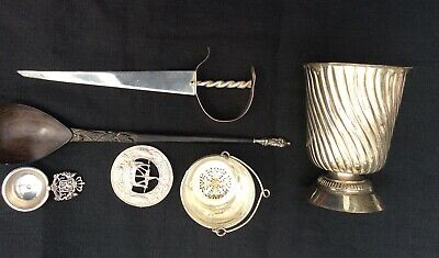 Interesting lot of Antique Hallmarked Silver items including Dutch
