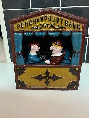 Cast Iron Punch And  Judy Moneybox