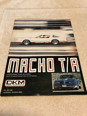 Macho T/A Brochure Original