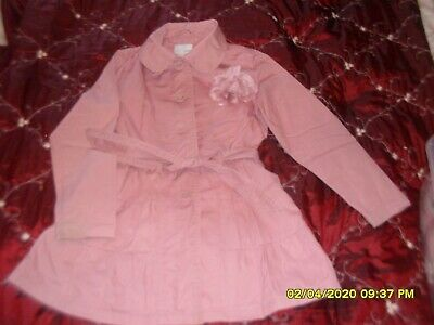 Next - Girls dusky pink long coat - Age 9-10 years
