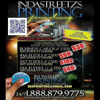 2500 Full Color Business Cards W/ Your Artwork Ready To Print - 2 Sided Glossy