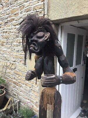 Large 6ft Tall African Tribal Wooden Carving