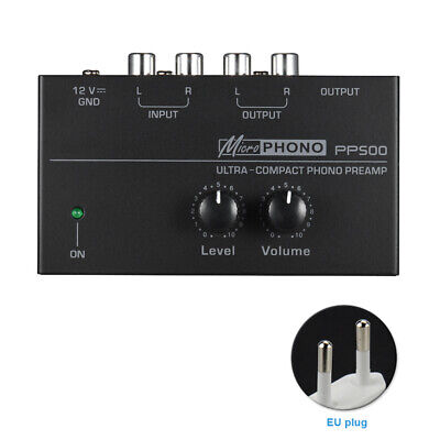 PP500 Phono Preamp Ultra Compact Preamplifier Home Turntable Portable Phonograph