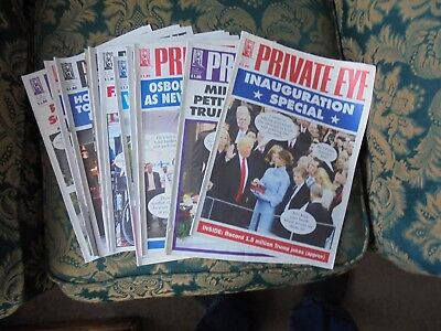 11 Issues Private Eye Magazine 2017