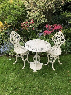 Stunning Italian Victorian Cast Iron Garden Chess Table And Chairs Coalbrookdale