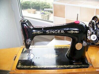 Vintage Singer 66K Heavy Duty Hand Sewing Machine,Sews Supple Leather,Serviced