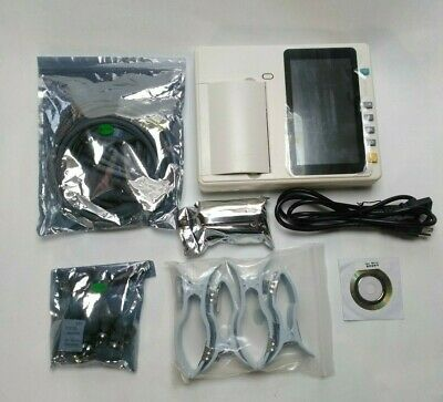 "Portable Ecg Machine With 7"" Lcd Touch Screen 3 Channel With Leads"