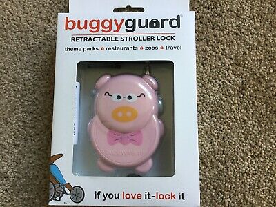 Buggyguard Retractable Anti-Theft Stroller Lock - Pink Pig Piggy Free Shipping!