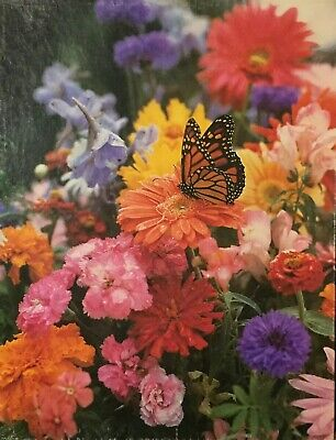 Vintage Springbok BLOOMING MIRACLES Flowers Butterfly Jigsaw Puzzle 500 Pc
