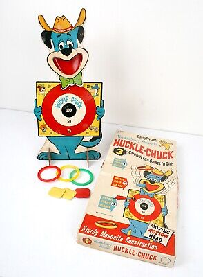 Vtg 1961 Transogram Huckleberry Hound's HUCKLE-CHUCK Carnival Games in BOX