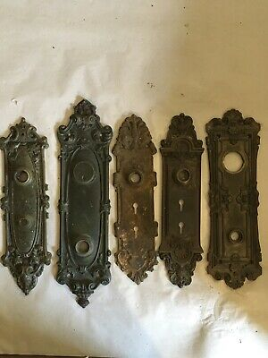 Lot #409 Large Cast Bronze And Iron Backplates Vintage Hardware