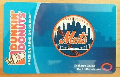 2006 DUNKIN' DONUTS NEW YORK NY METS Coffee Gift Card No Value