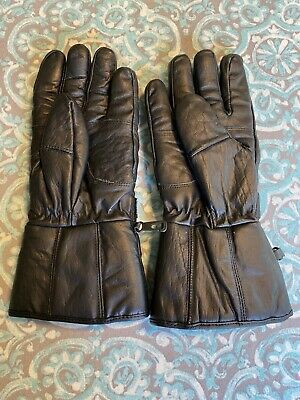 Men's leather motorcycle gloves large
