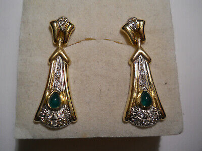 Estate Gold Dangle Earrings 14k Yellow Gold Gemstones 14kt Wear or Scrap 4.5gr U