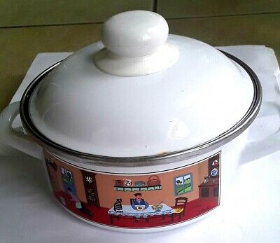 Villeroy & Boch Naif Small Enamel Pot with Handle and Lid  7""