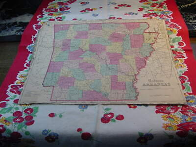 State of Arkansas Map 1860 Colton's General Atlas Color Steel Engraving CA38
