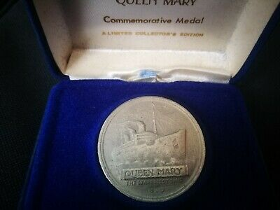 Queen Mary Stateliest Ship Commemorative Medal Coin. 1936-1967