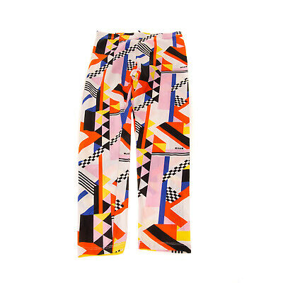MSGM Leggings Size 6Y Stretch Elasticated Waist Multi-Coloured Made in Italy