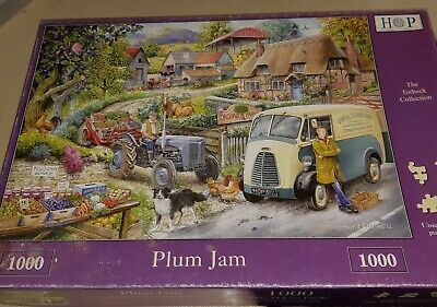 House of Puzzles 1000 piece jigsaw puzzle Plum Jam New /& Sealed