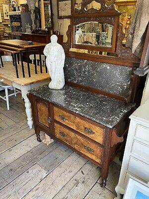 Antique Mirrored Marble Wash Stand