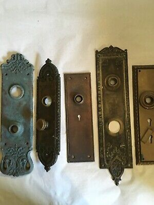 Lot #410 Large Cast Bronze And Iron Backplates Vintage Hardware